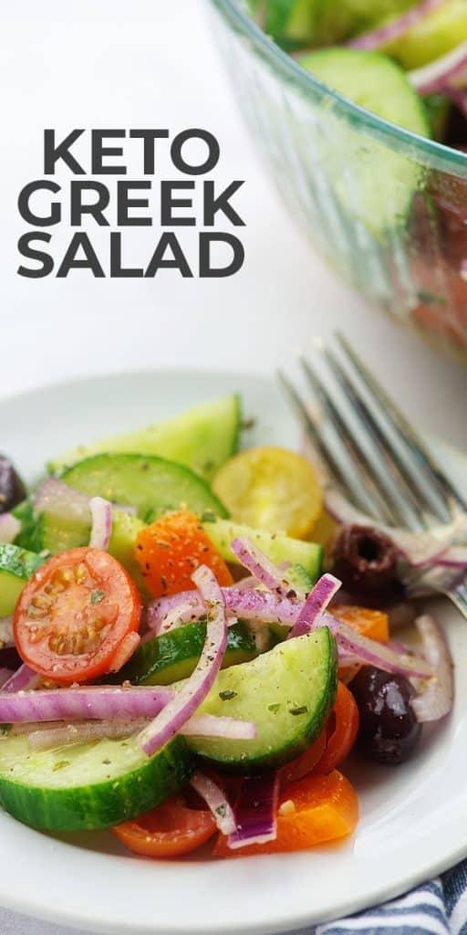 greek salad on white plate