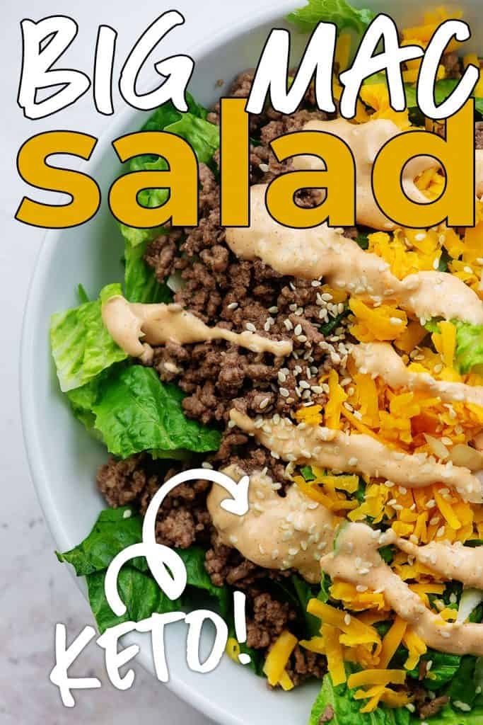 low carb salad recipe in white bowl
