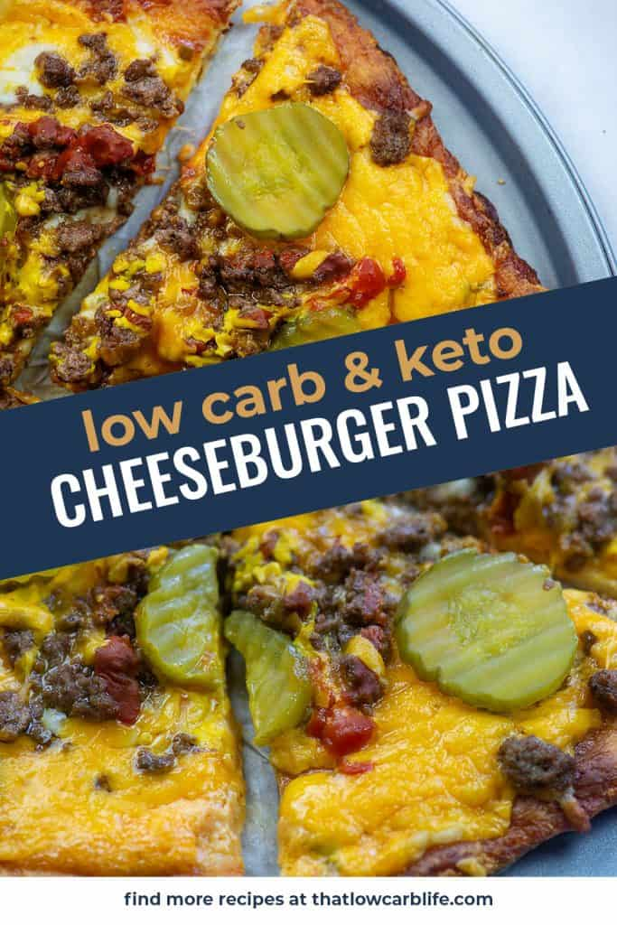 keto pizza recipe photo collage for pinterest