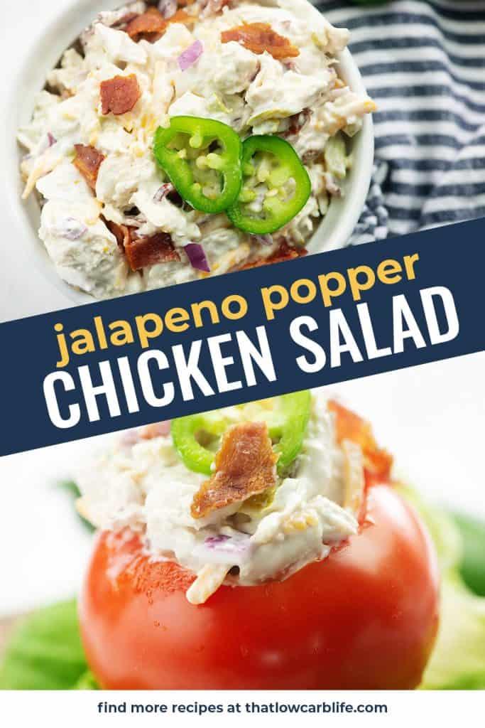 chicken salad photo collage for pinterest