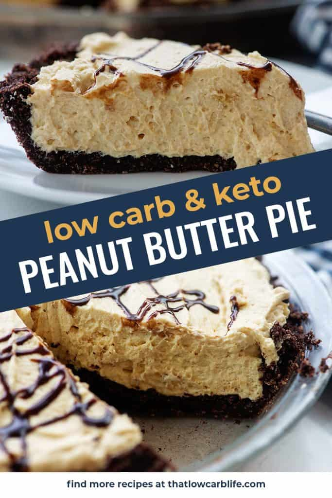 low carb peanut butter pie photo collage