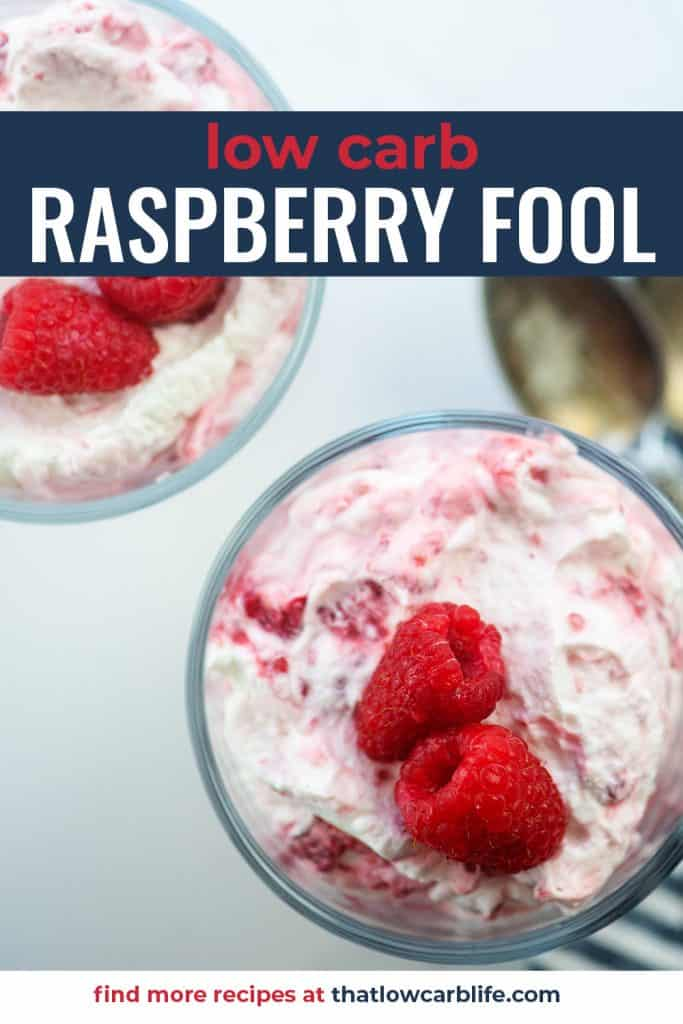 raspberry fool recipe in glass dishes with berries on top
