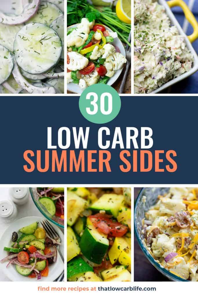 collage of summer side dish recipes for pinterest