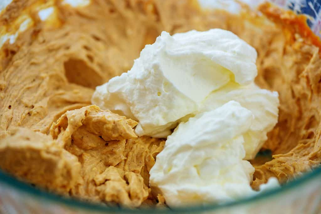 pumpkin mousse made with real whipped cream
