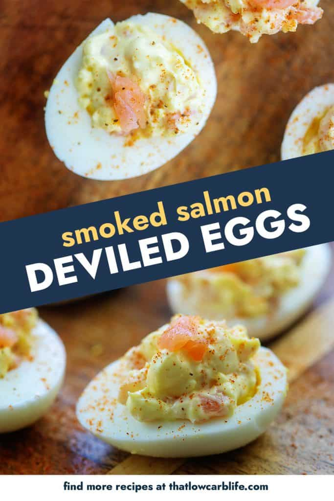 keto deviled eggs photo collage