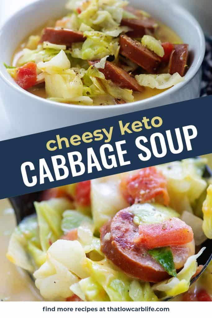 keto cabbage soup recipe photo collage