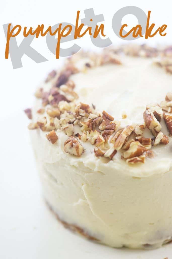 mini pumpkin cake on white background
