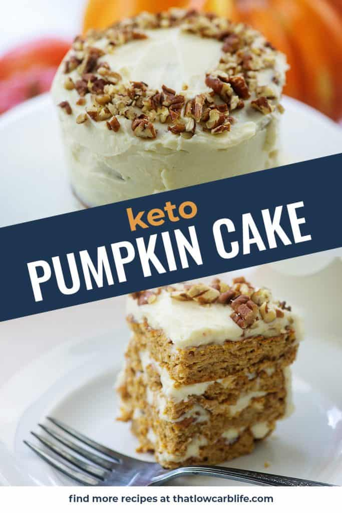 collage of pumpkin cake images