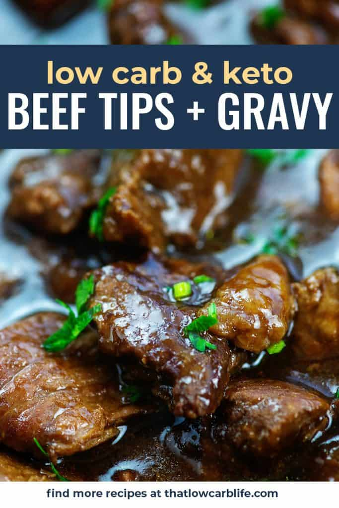 chunks of beef in low carb gravy