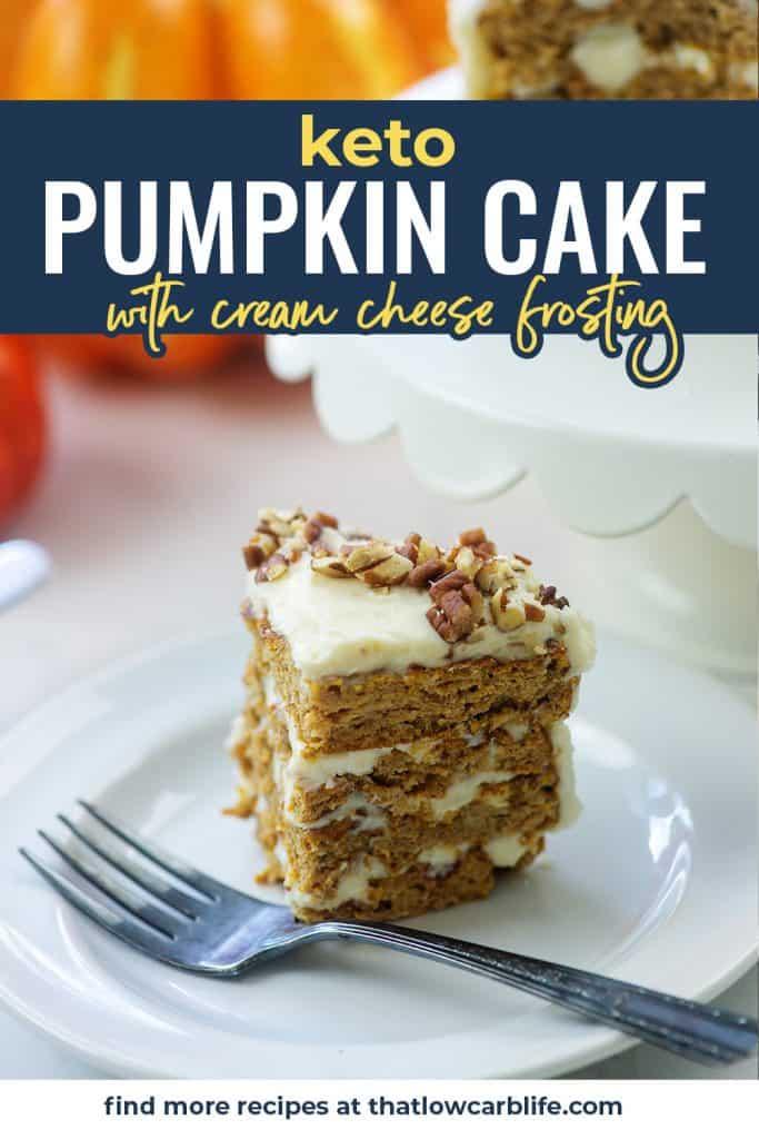 pumpkin layer cake on white plate