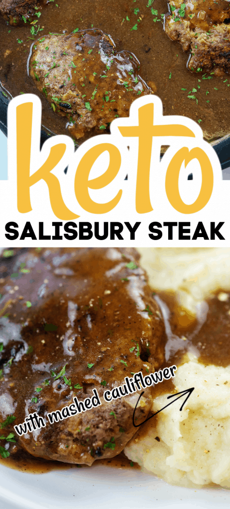 salisbury steak photo collage for pinterest
