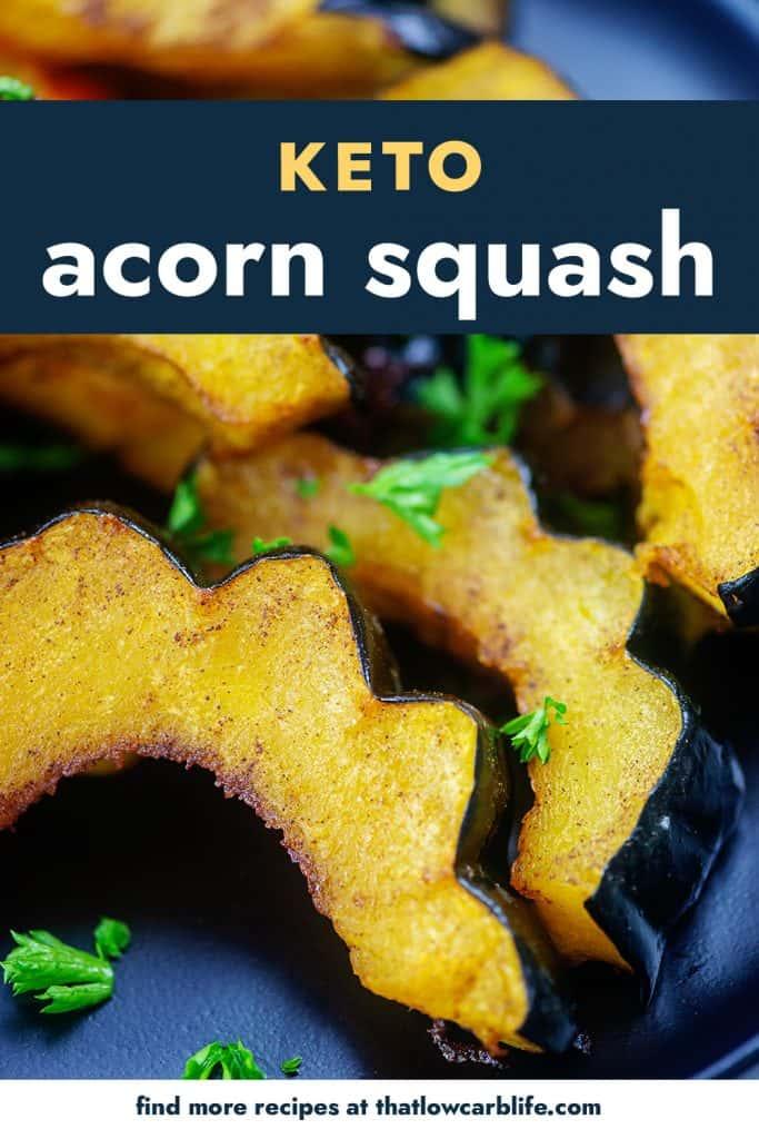 roasted acorn squash on black plate