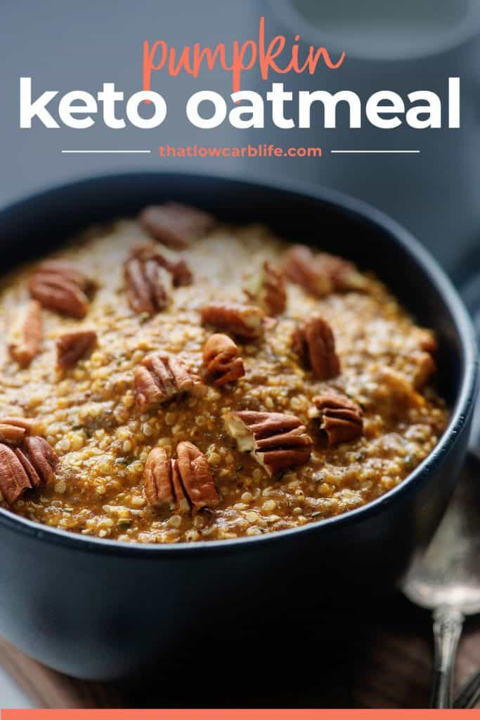 bowl of pumpkin pecan noatmeal