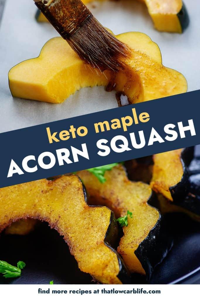 collage of roasted acorn squash photos