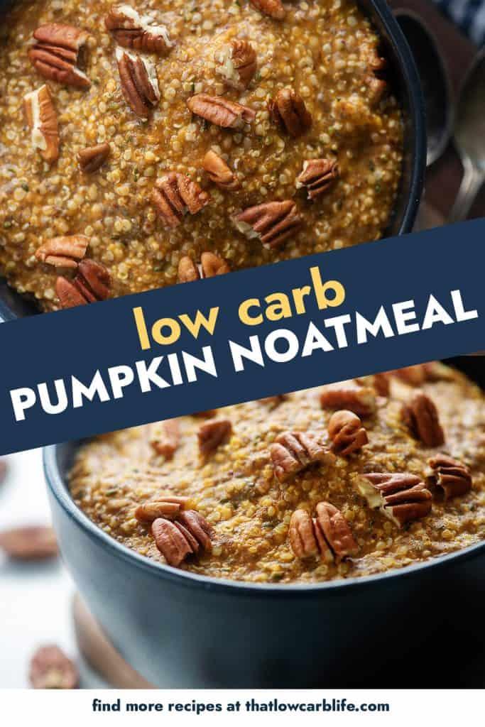 collage of pumpkin oatmeal photos
