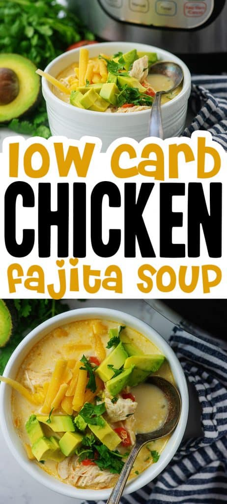 chicken fajita soup photo collage