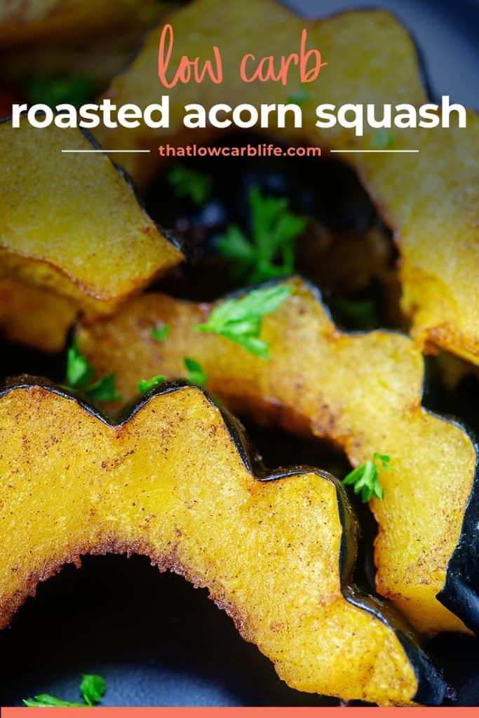acorn squash on black plate