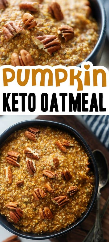 low carb pumpkin oatmeal collage