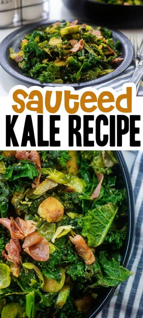 photo collage of kale recipe.