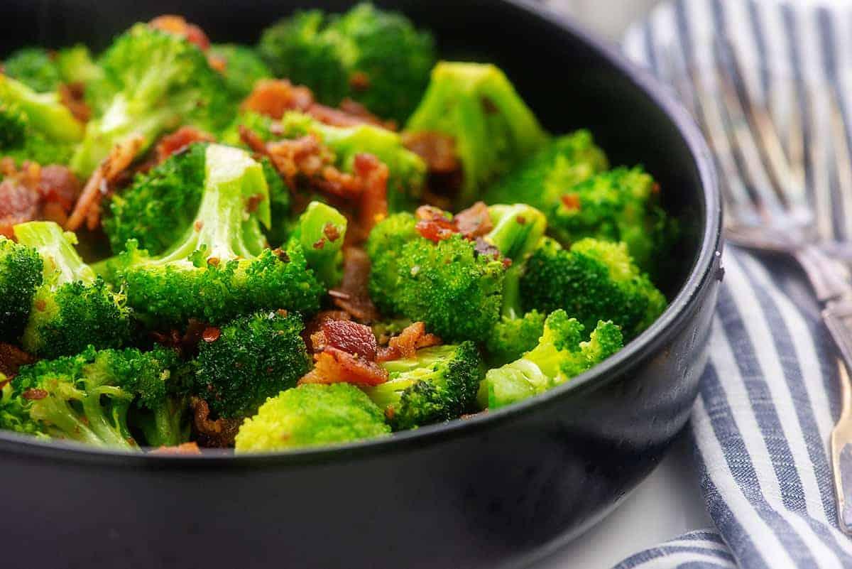 Sauteed Broccoli With Bacon Low Carb Keto Recipe