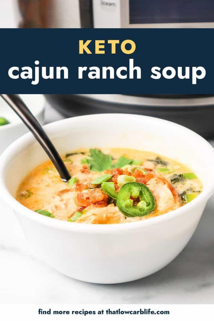 white bowl full of cajun soup.