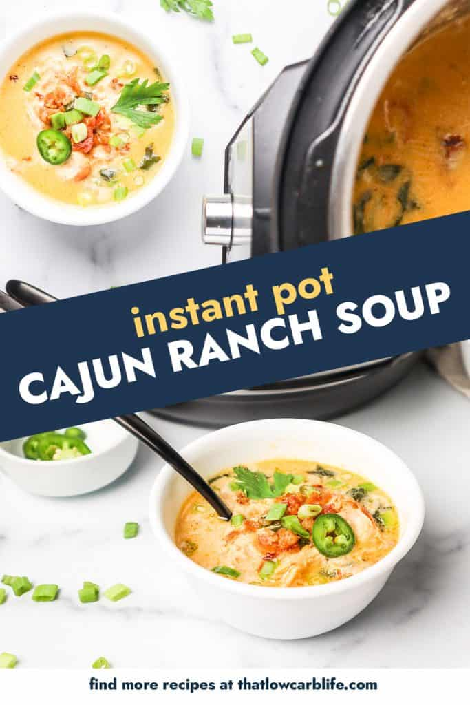 instant pot soup photo collage.