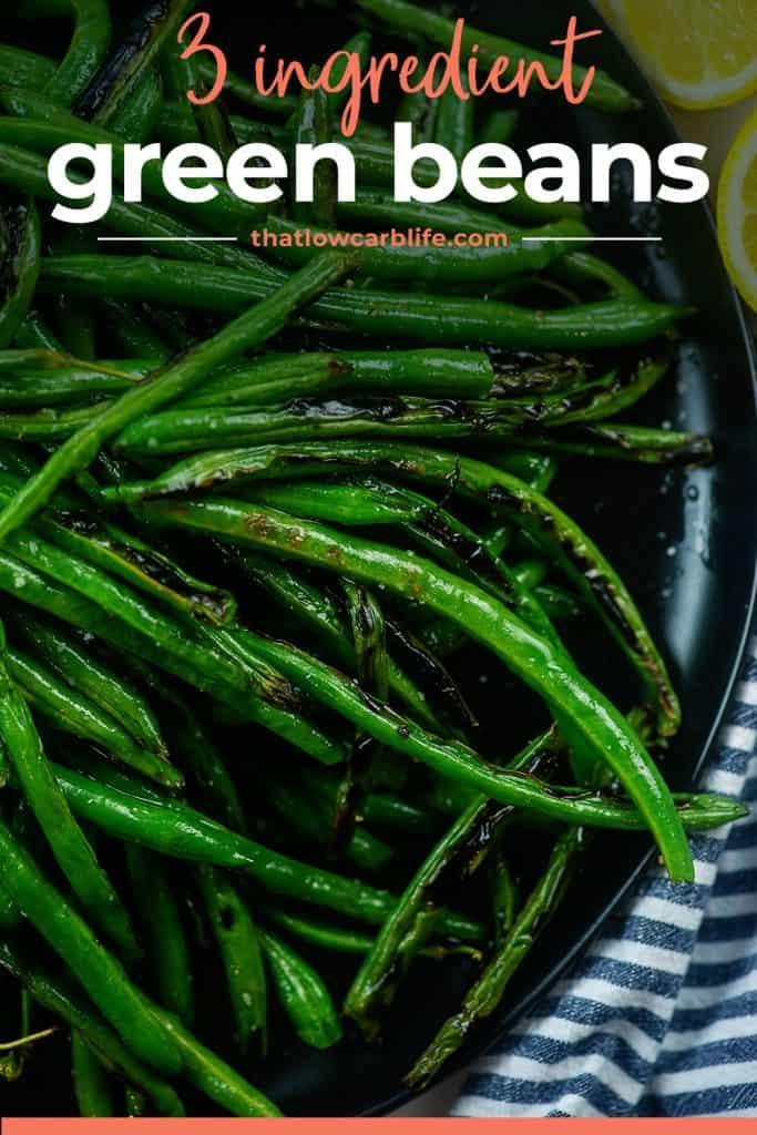 plateful of green beans.
