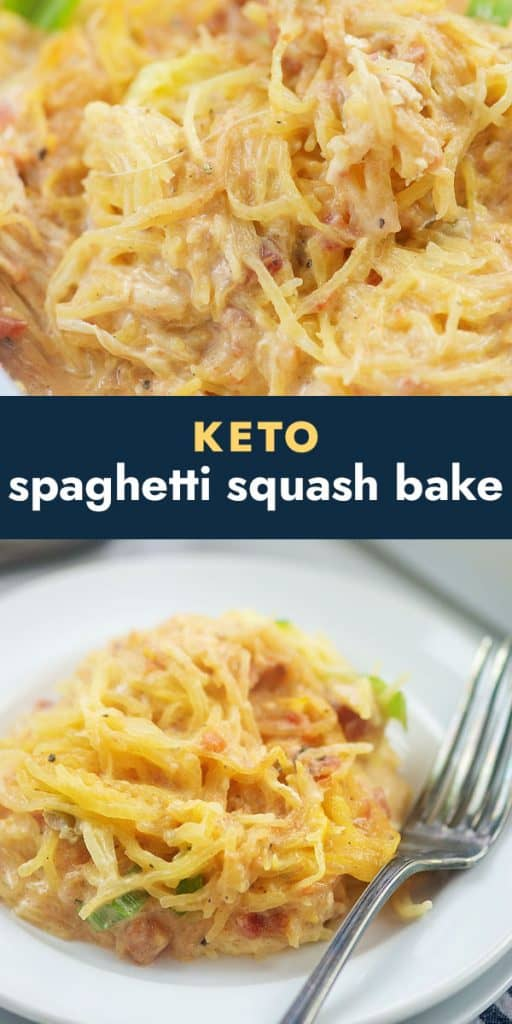 photos of spaghetti squash in collage.