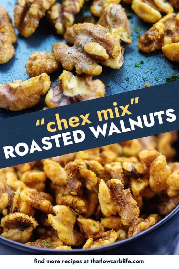collage of roasted walnut photos.