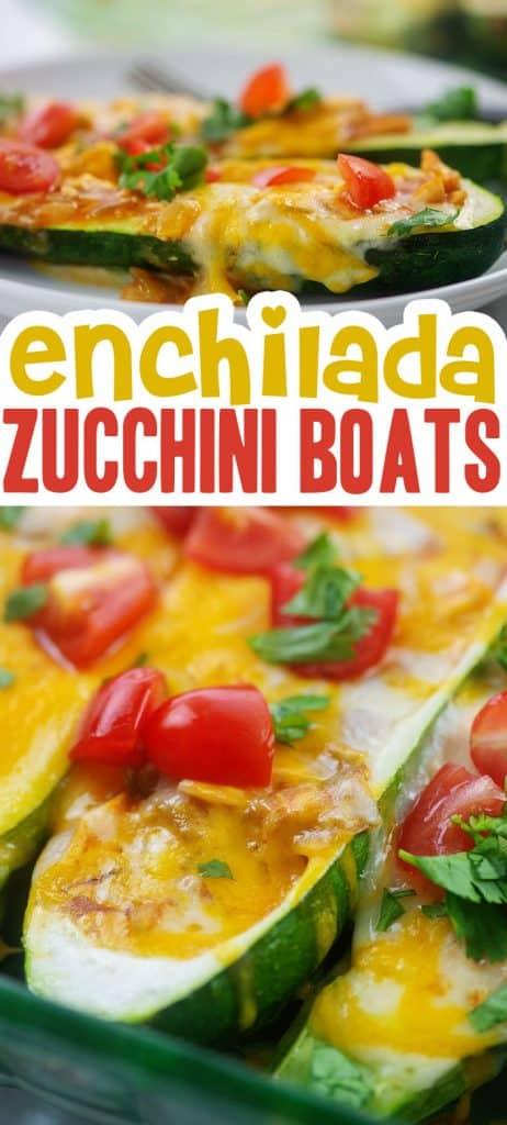 keto zucchini boats photo collage.