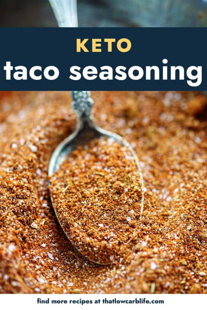 spoon in a bowl of taco seasoning