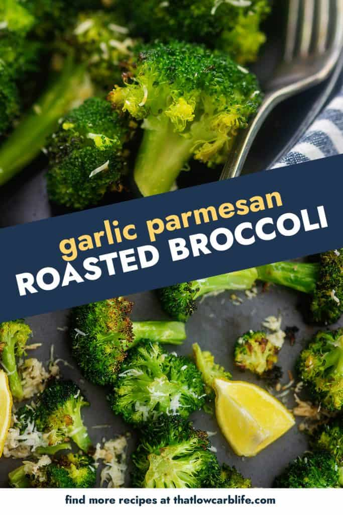 collage of roasted broccoli images.