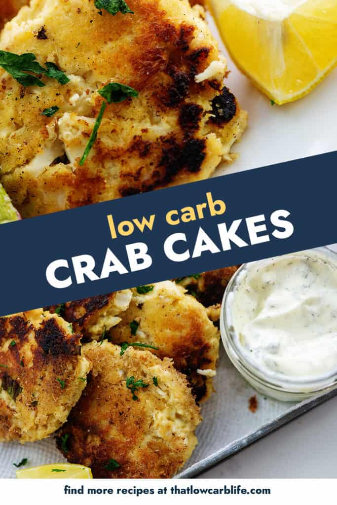 collage of crab cake images.