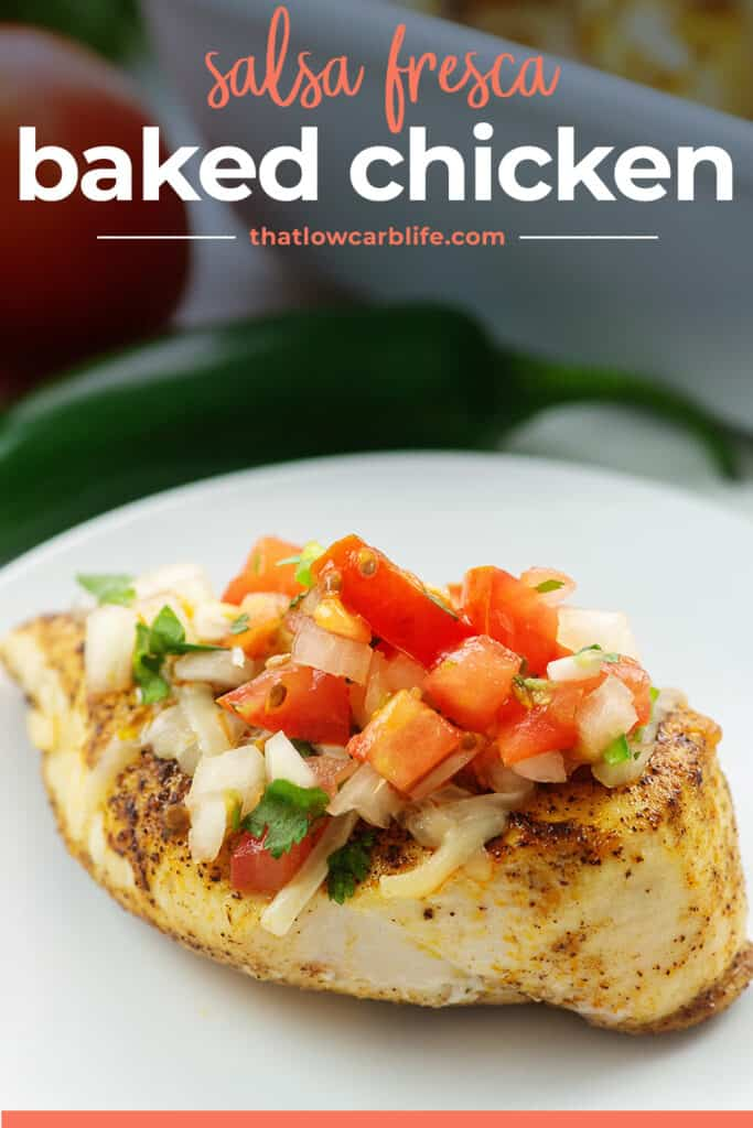 baked chicken breasts topped with salsa fresca
