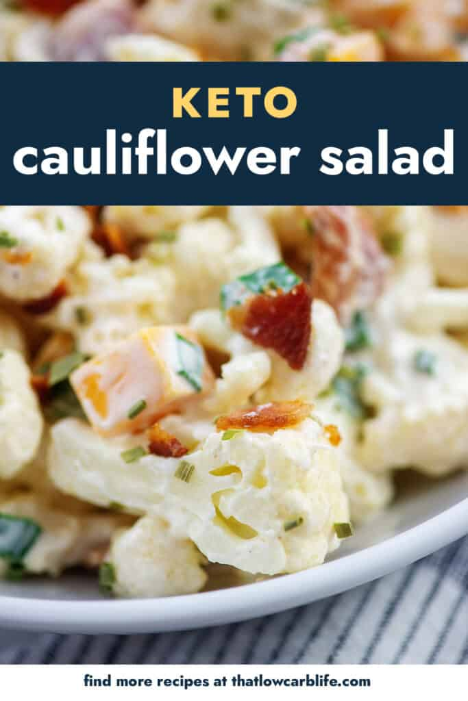 cauliflower salad in white bowl.