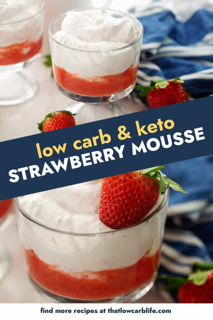 collage of strawberry mousse images