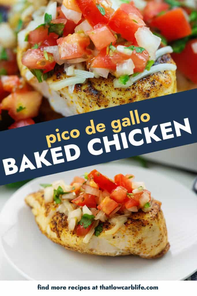 collage of baked chicken images.