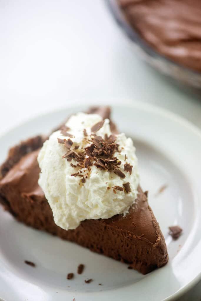 low carb chocolate pie