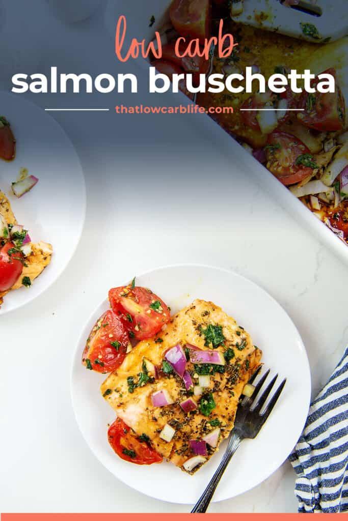 low carb salmon bruschetta recipe.