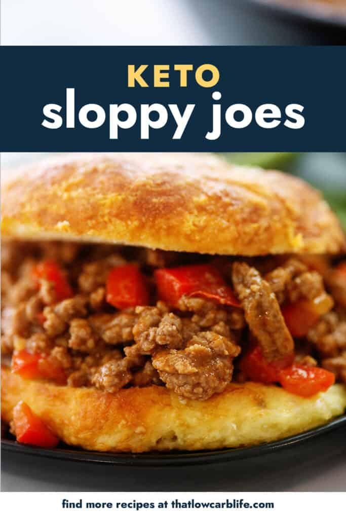 low carb sloppy joe on low carb hamburger bun.