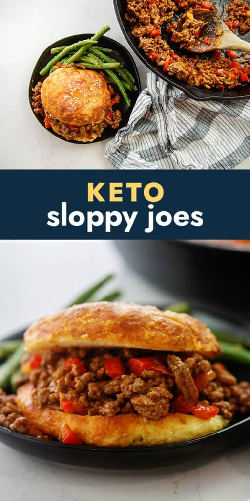 collage of sloppy joe images with text for Pinterest.