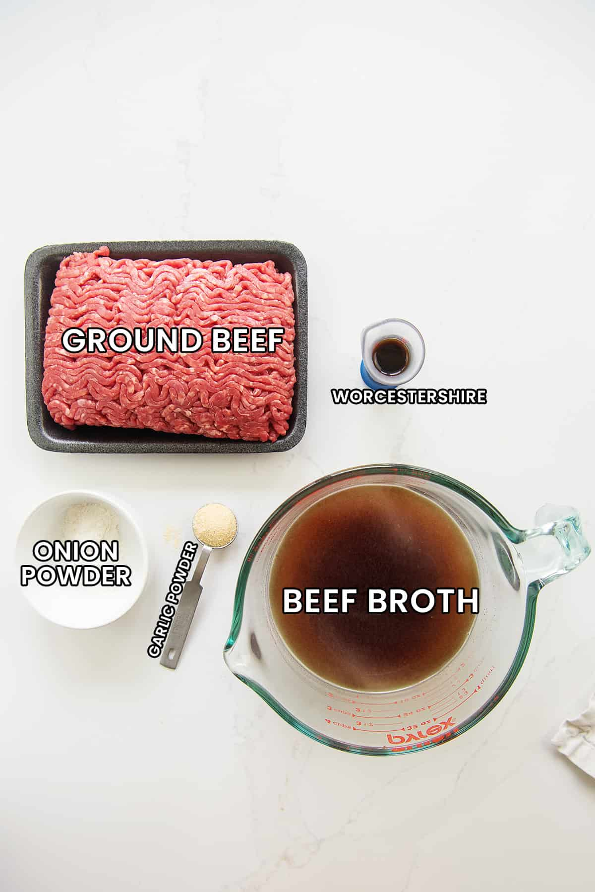 keto loose meat sandwiches ingredients.