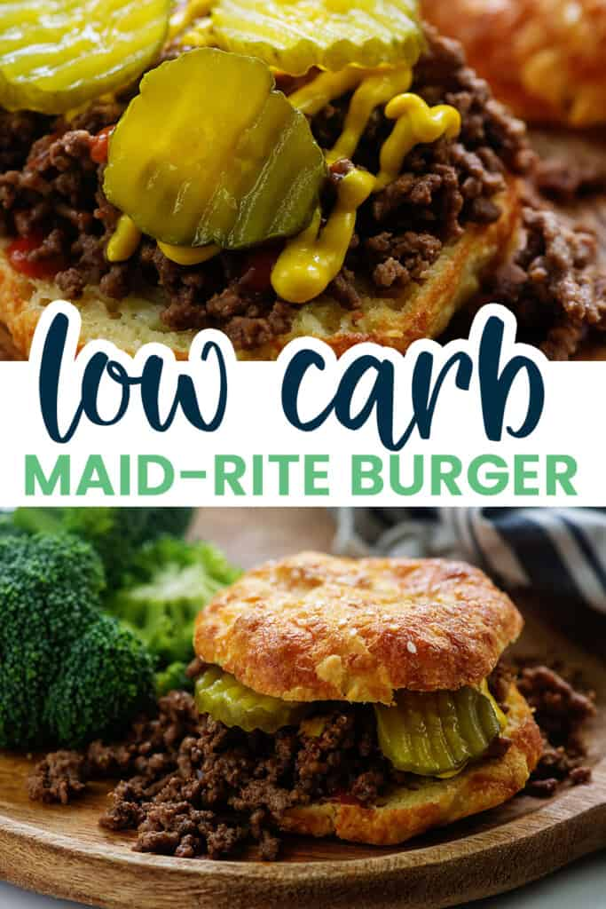 collage of keto burger images with text for Pinterest.