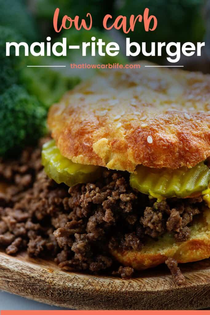 low carb sandwich on keto bun.