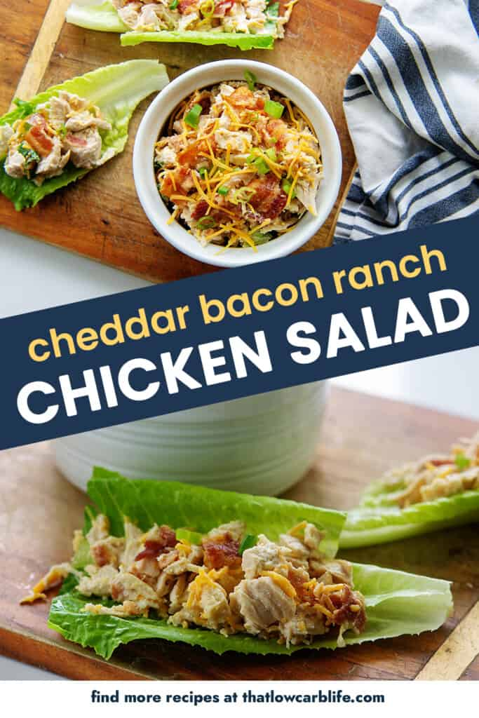 collage of chicken salad images.