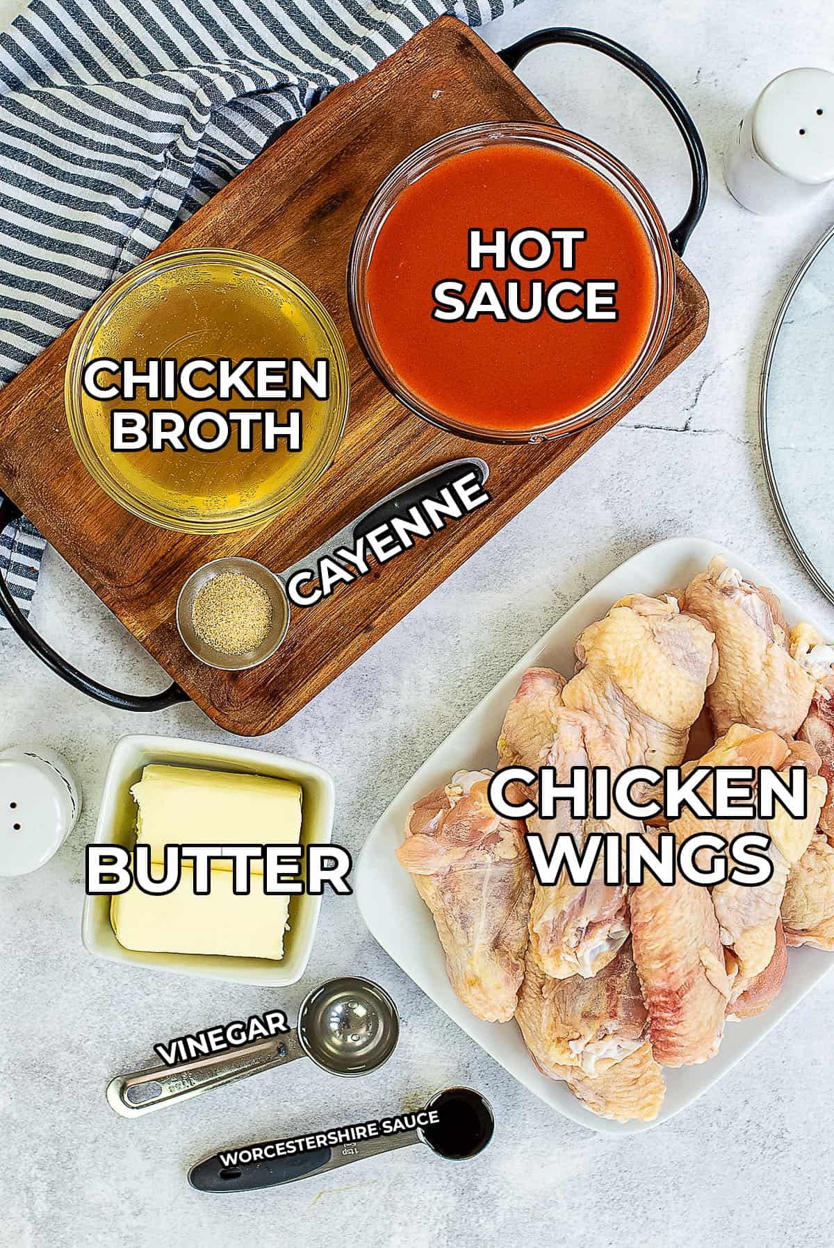 ingredients for crockpot wings.