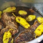 Mississippi pot roast in Instant Pot.