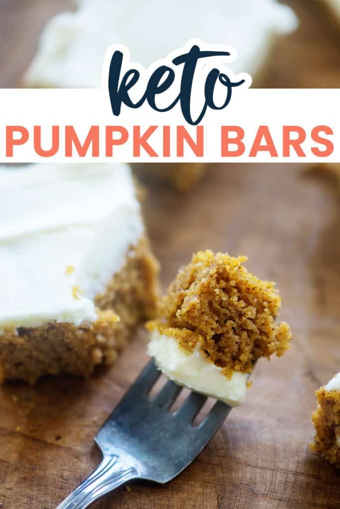 fork full of pumpkin bar.